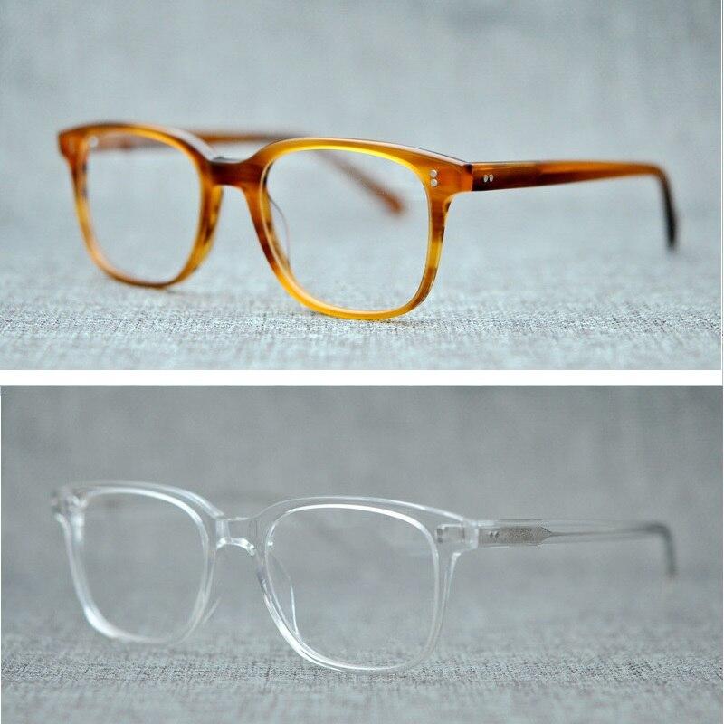 d1c4331b8f5 Vazrobe Acetate Glasses Men Women Transparent Black Tortoise Vintage  Eyeglasses Frame for Myopia Optical Prescription Brand