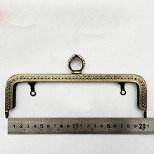 vintage bronze color metal clasp for bag purse frame knurling accessories diamond buckle 3pcs/lot