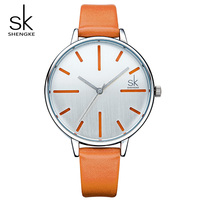 Shengke Luxury Women Watches Brand Fashion Leather Watch Ladies Quartz Clock Relogio Feminino 2018 SK Female