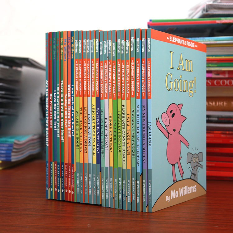 25 Books/set An Elephant & Piggie Book Children's EQ Education English Picture Kids Story Books Learn English