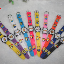 15 Pieces/lot Mixed Wholesales Cartoon Minions Watch for Children Birthday Chris