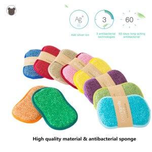 Image 3 - 4pcs Anti microbial cleaning sponge magic sponge melamine sponges kitchen sponge for washing dishes kitchen scourer pan brush