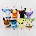 Pikachu Espeon Umbreon Espeon Plush Flareon Vaporeon Glaceon toy figuras Brinquedos 13 cm de Pelúcia Macia Anime Bonecas Dos Desenhos Animados FreeShipping