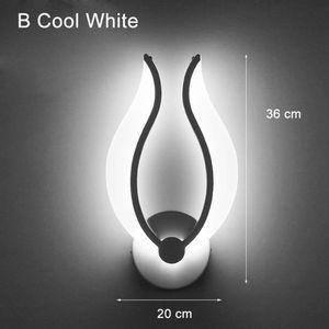 Image 2 - LED אור מודרני מנורת קיר אקריליק פמוט 10W AC90 260V מקורה אמבטיה חדר שינה סלון מסדרון אמנות קישוט