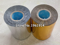 2 Rolls Gold And Slilver Hot Foil Stamping Paper Heat Transfer Anodized Gilded Paper With Shipping