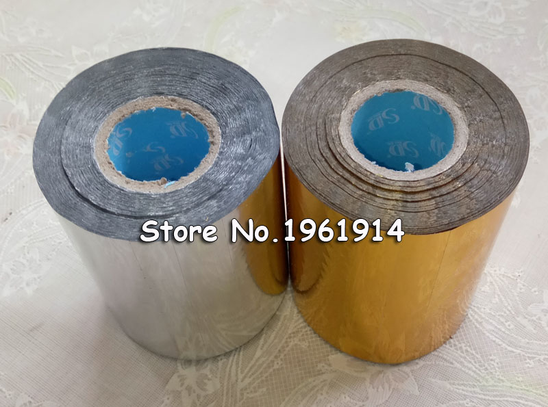 все цены на 2 Rolls(gold and slilver) Hot Foil Stamping Paper Heat Transfer Anodized Gilded Paper with Shipping Cost Fee