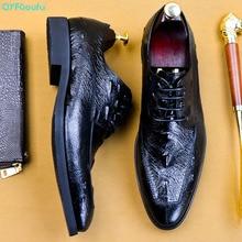 Handmade Vintage Fashion Crocodile Shoes Men Party Wedding Formal Genuine Leather Derby Dress EU Size 46