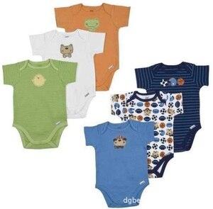 Image 2 - Детское боди Hooyi с коротким рукавом, 100% хлопок, боди, комбинезон для малышей, детская одежда, Летние Боди для маленьких девочек