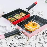 Kitchen Nonstick Omelette Pan Rectangle Frying Pan Tamagoyaki Egg Pan Japanese Rolled Saute Skillet Fry Pan Dishwasher Safe