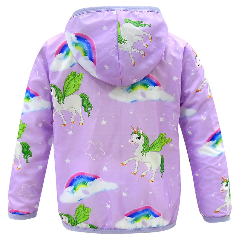 2019 new children's sun protection clothing unicorn casual girl air conditioning shirt girl sunscreen jacket hoodie