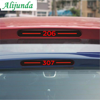 Car-styling Carbon Fiber Brake Sticker Rear Brake Lights stickers For Peugeot 307 peugeot 206 image