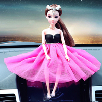 Cabeça Artes e Artesanato A decoração automóvel decorativo presente criativo Barbie moda ornamentos requintados senhora decoração do carro deco