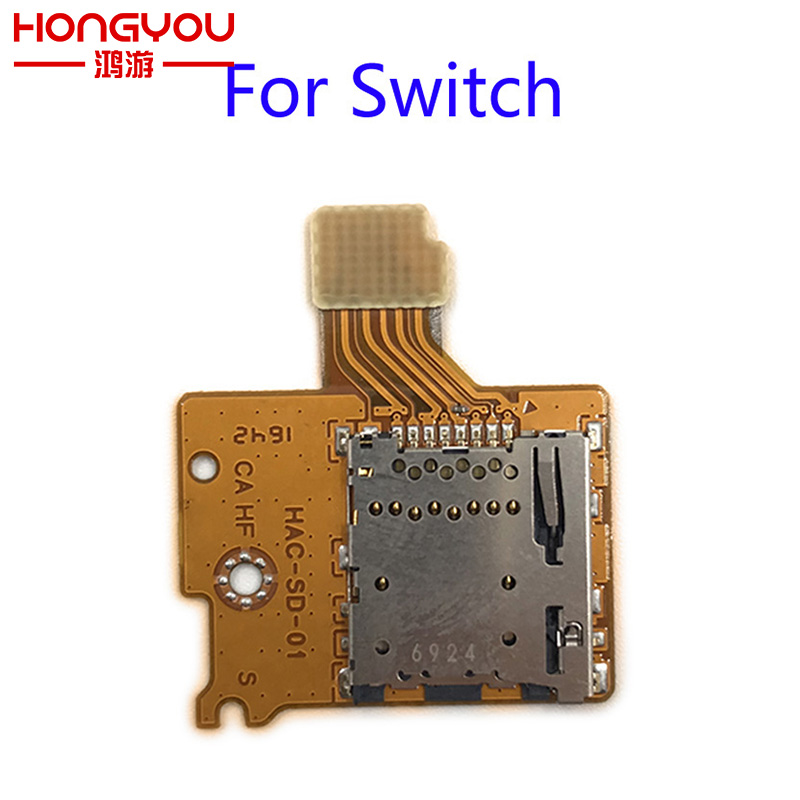 Original Spare Parts For Nintend Switch NS TF SD Card Slot Socket Replacement Handle Controller SD Card