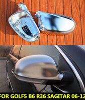 For VW Golf 5 MK5 GT I 5 Passat B6 Field Mirror Covers Caps Magotan B6 R36 R32 Golf6 Journey Old Lavida Sagitar Mirror Cover