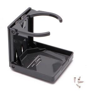Image 4 - Siyah katlanır İçecek kupası şişe tutucu standı montaj araba oto tekne olta takım kutusu
