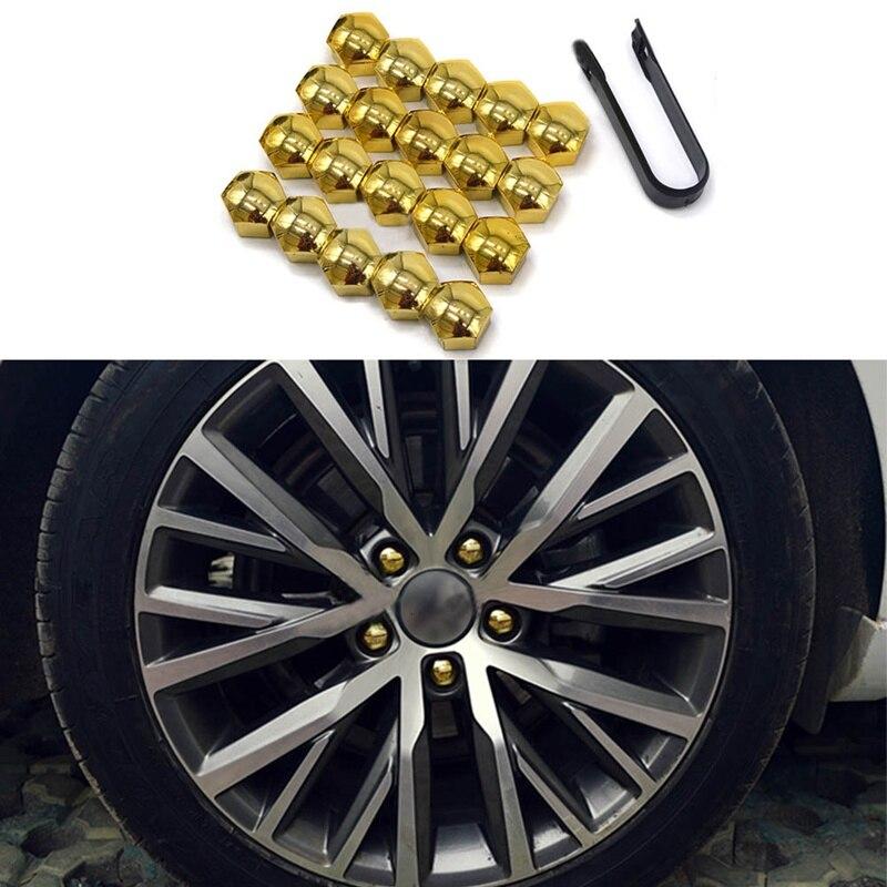 20Pcs/Lot Car Wheel Bolt Center Nut Cover Caps with a Clip Tool Universal Hub Nut Car Bolt Protect Cap