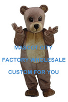 Bear Baby Mascot Costume Cartoon Mascotte Outfit Suit Fancy Dress With Helmet Party Costume SW537