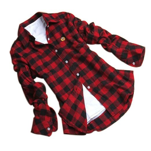ff01ba36be7 New Brand Women Red   Black Casual Flannel Check Shirt Plaid Long-sleeved Blouse  Plus size 2XL