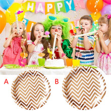6Pcs Disposable Tableware for Parties Birthday Wedding  sc 1 st  AliExpress.com & Buy vintage paper plates and get free shipping on AliExpress.com
