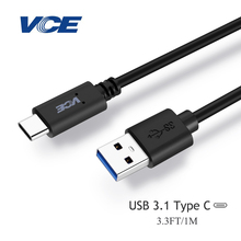 USB Type-C Cable,USB 3.1 Type C to USB 3.0 Type A Male Data Sync Charge Cable for N1,OnePlus 2, Nexus 6P,Lumia 950(3.3FT)
