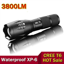 Powerful LED Flashlight CREE XM-L T6 LED Torch Zoomable Flashlight Tactical Flashlight For Camping Hiking Fishing Biking