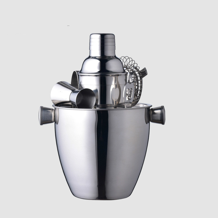 Hot style bar cocktail set stainless steel shaker milk tea shop supplies utensils