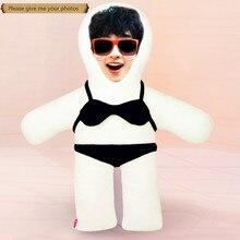 Photo custom pillow black bikini humanoid cushion Christmas decorations  diy gift Doll Birthday Valentines Day Gifts