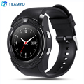 Teamyo V8 Sport Smart Watch Passometer Fitness Tracker Sleep Monitor for AndroidPhone Support TF SIM Card Bluetooth Smartwatch