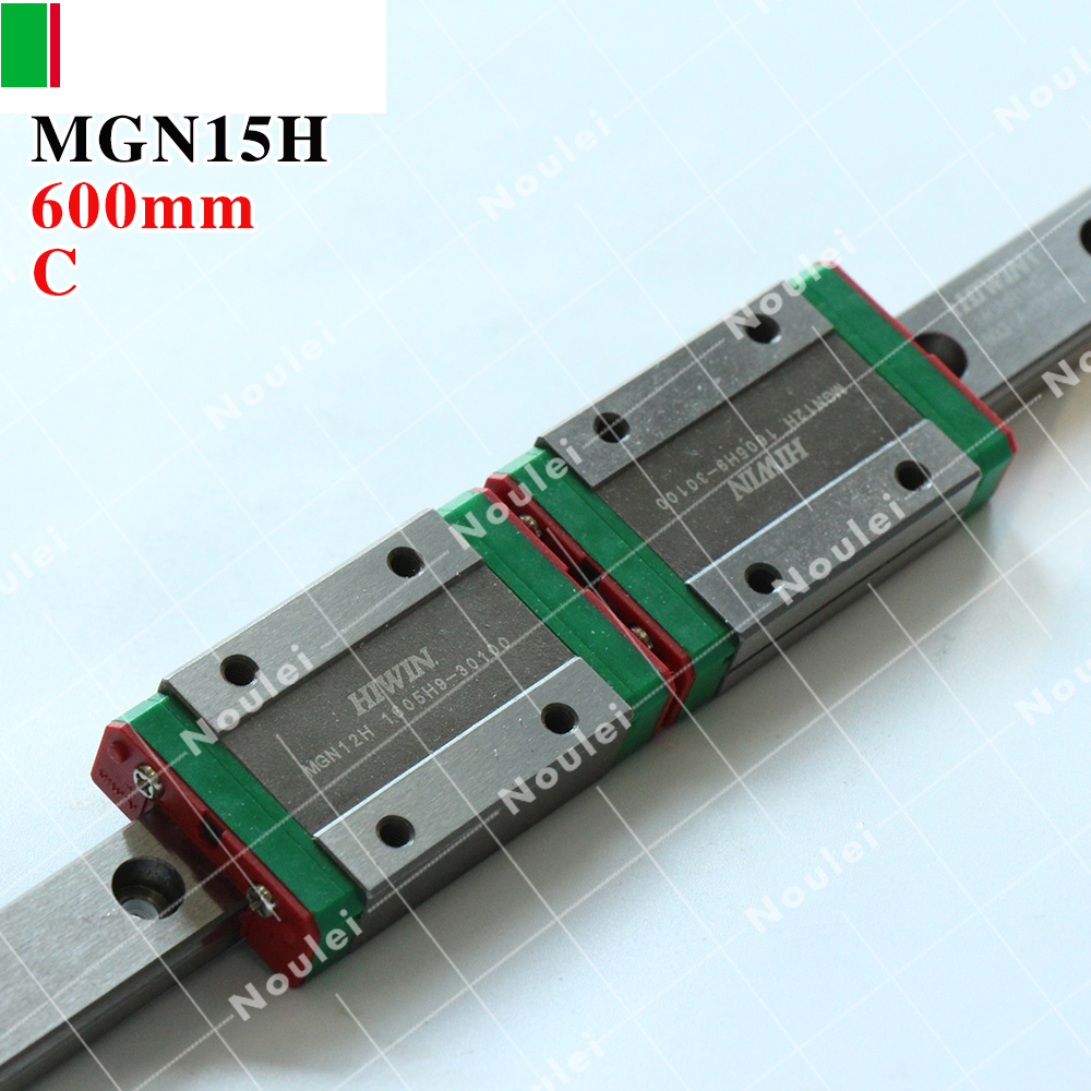 HIWIN MGN15H slide block with 600mm MGN15 linear guide rail 15 mm stainless steel MGNR15 for Miniature CNC parts hig quality linear guide 1pcs trh25 length 1200mm linear guide rail 2pcs trh25b linear slide block for cnc part