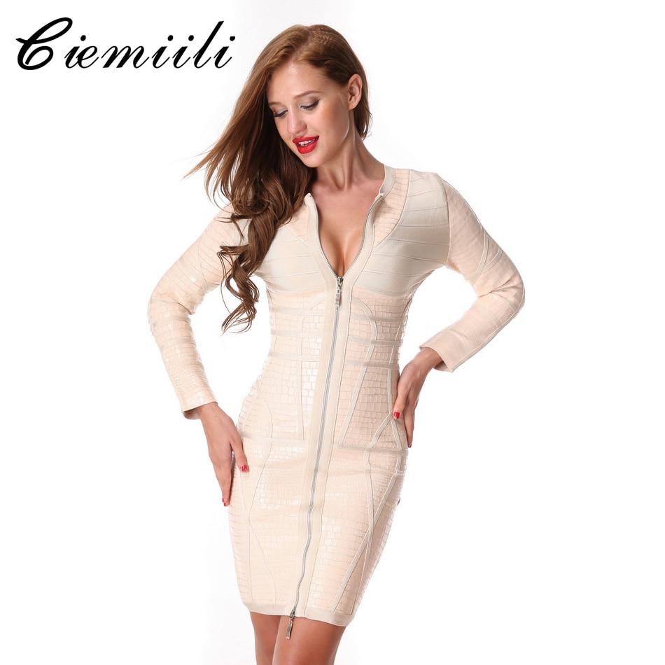 CIEMIILI 2017 O Neck Mini Sheath Women Dresses Patchwork Zippers Bodycon Stylish New Fashion Winter Ladies