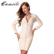 CIEMIILI 2017 O-Neck Mini Sheath Women Dresses Patchwork Zippers Bodycon Stylish New Fashion Winter Ladies Dresses Free Shipping
