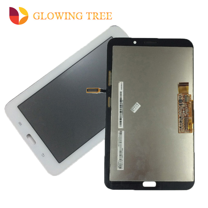 White For Samsung Galaxy Tab 3 Lite T110 SM-T110 Touch Screen Digitizer Sensor Glass + LCD Display Panel Monitor Assembly protective clear screen protector guard film for samsung galaxy tab 3 lite t110