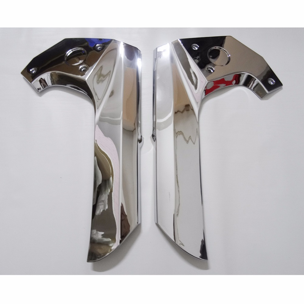 Новая пара хромированный Рамки центр крышки планки для Honda GL1800 2006 2007 2008 2009 2010 2011 [pa393]