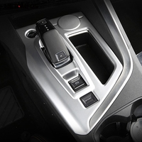For Peugeot 3008 GT 2016 2017 2018 Interior Accessories Carbon Fiber Gear Shift Box Cover Molding Trim Car Styling Fit For LHD