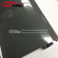1.52*20M/Roll High Glossy Grey 5D carbon fiber vinyl 3D texture Grey 5D carbon Film with air Channels by free shipping