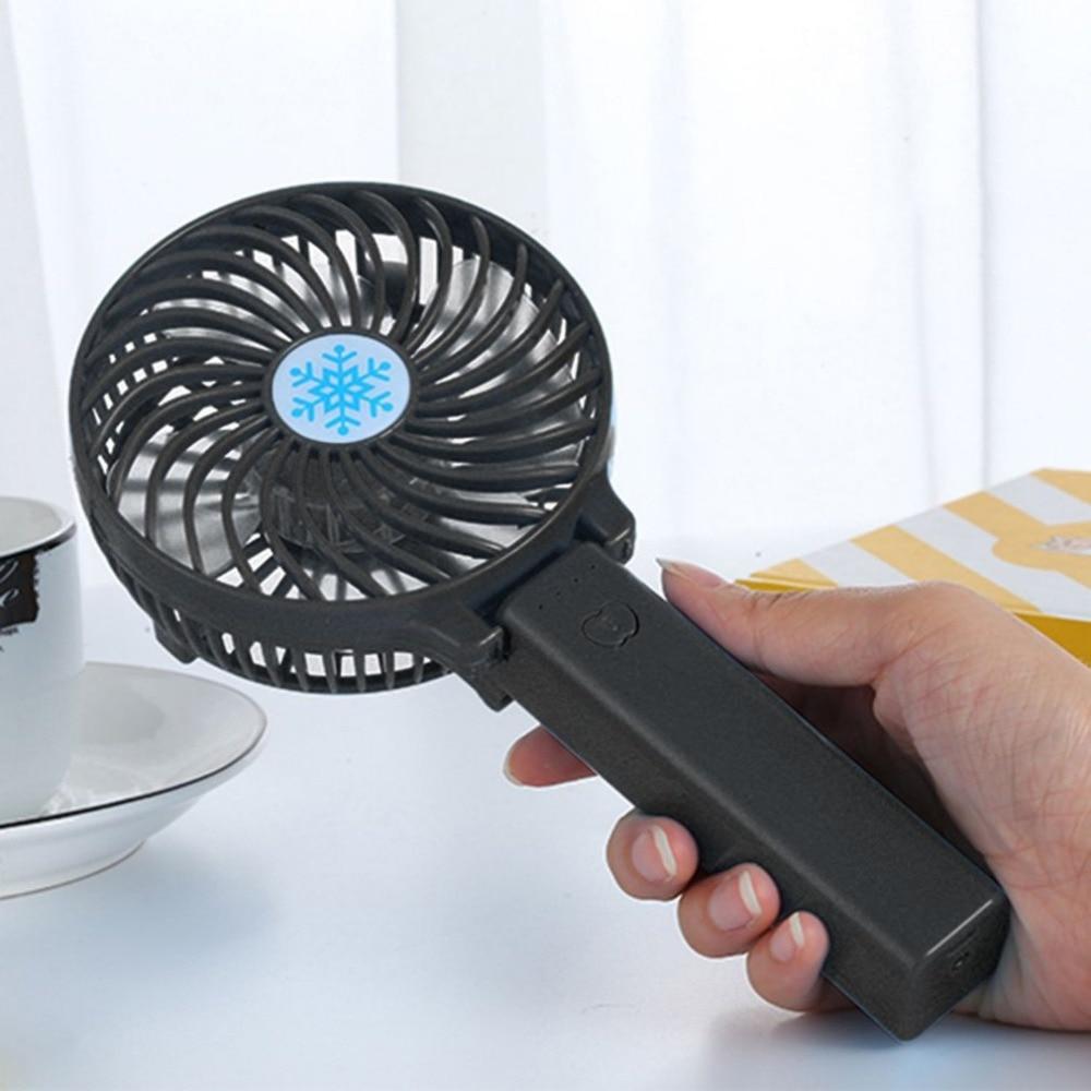 все цены на Portable Handheld Fan 3-Speed Mini USB Rechargeable Fan Quiet Desktop Personal Cooling Fan Foldable for Outdoor Travel USB fan онлайн