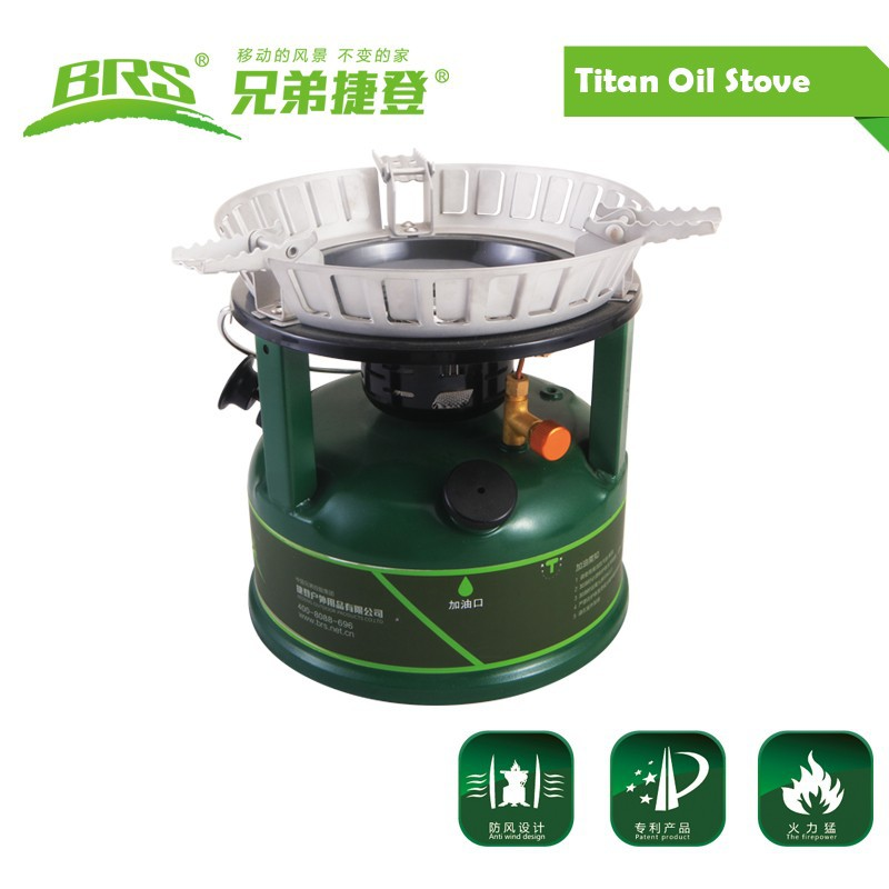BRS-7 Titan Oil Stove Outdoor Cooking Stoves Super Fire Cookware Oil-Burning Boiler For Picnic Camping Equipment Outdoor Burners fire maple fms 117t stoves titanium alloy camping cookware