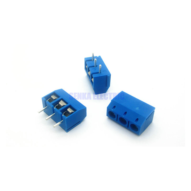 3 Pins 5.0mm Pitch PCB Terminals Straght Pin Screw Terminal Block Connector - SENKA ELECTRIC store
