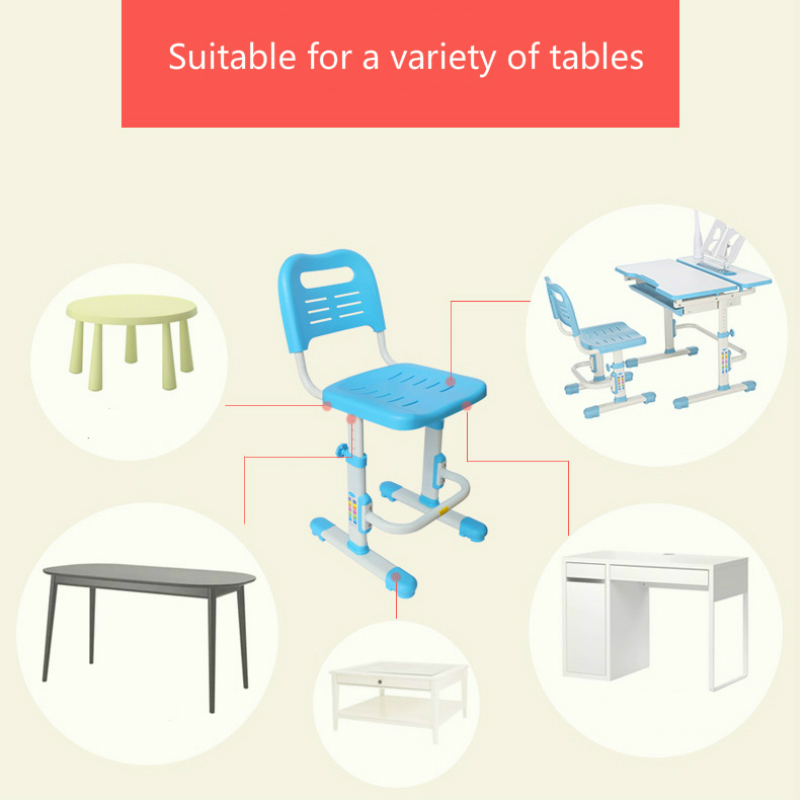 Lifted Kids Chair Non-slipable Study Stool Children's Furniture with Footrest Adjustable Kids Writing Chair Corrective Posture
