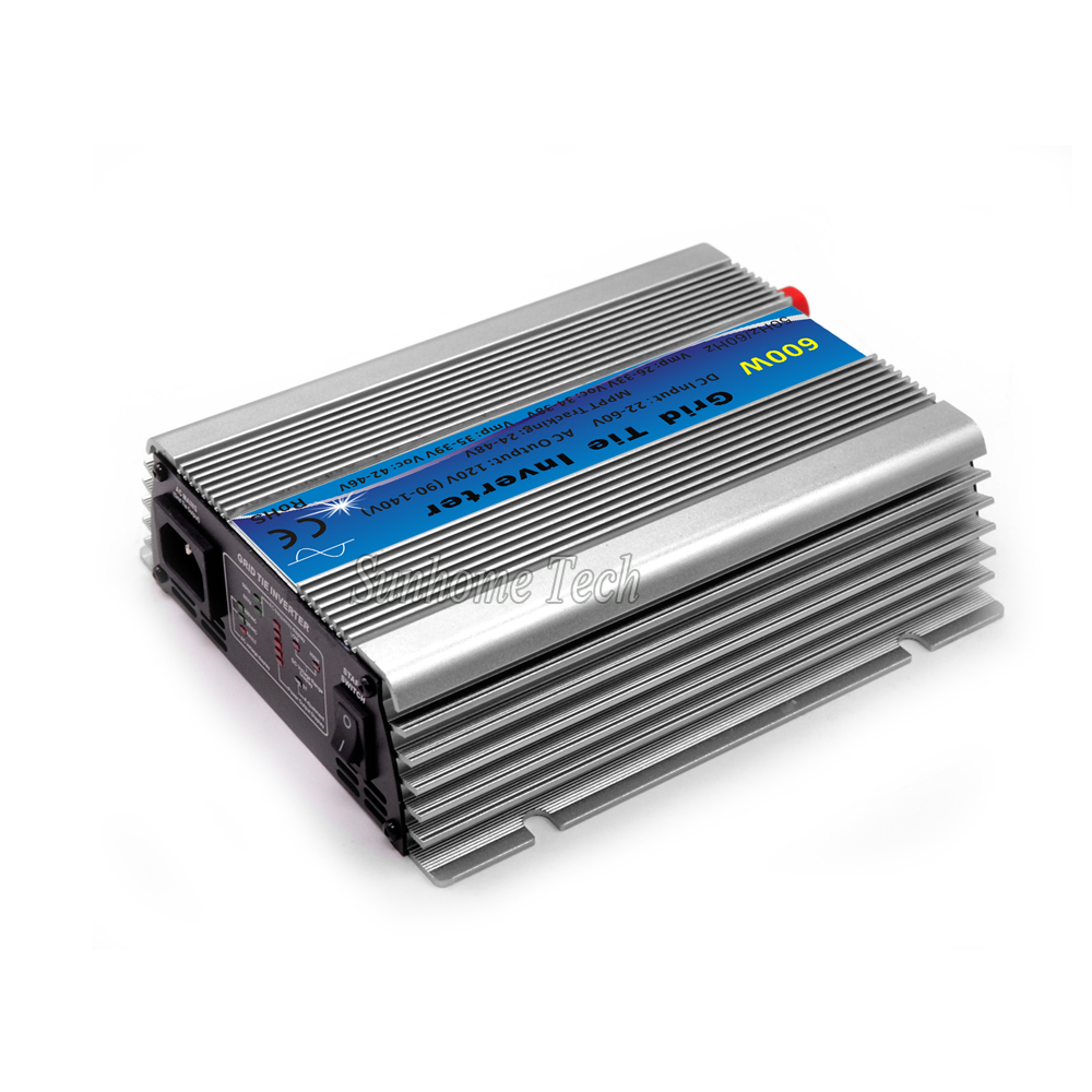 цена на 600W Grid Tie Inverter MPPT Function 30V 36V Panel 22-60VDC to 110V or 230VAC Solar Power Pure Sine Wave Micro Inverter