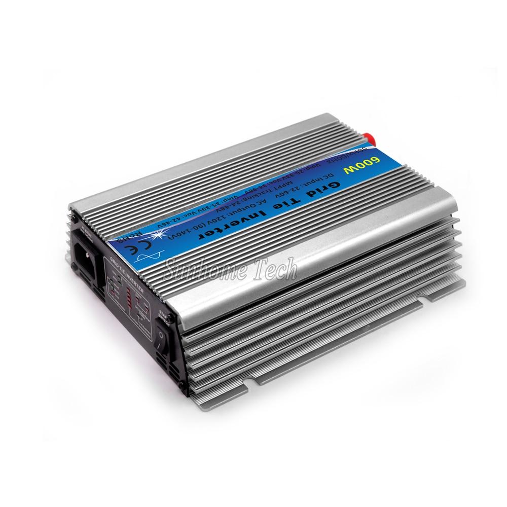 600W Grid Tie Inverter MPPT Function 30V 36V Panel 22-60VDC to 110V or 230VAC Solar Power Pure Sine Wave Micro Inverter