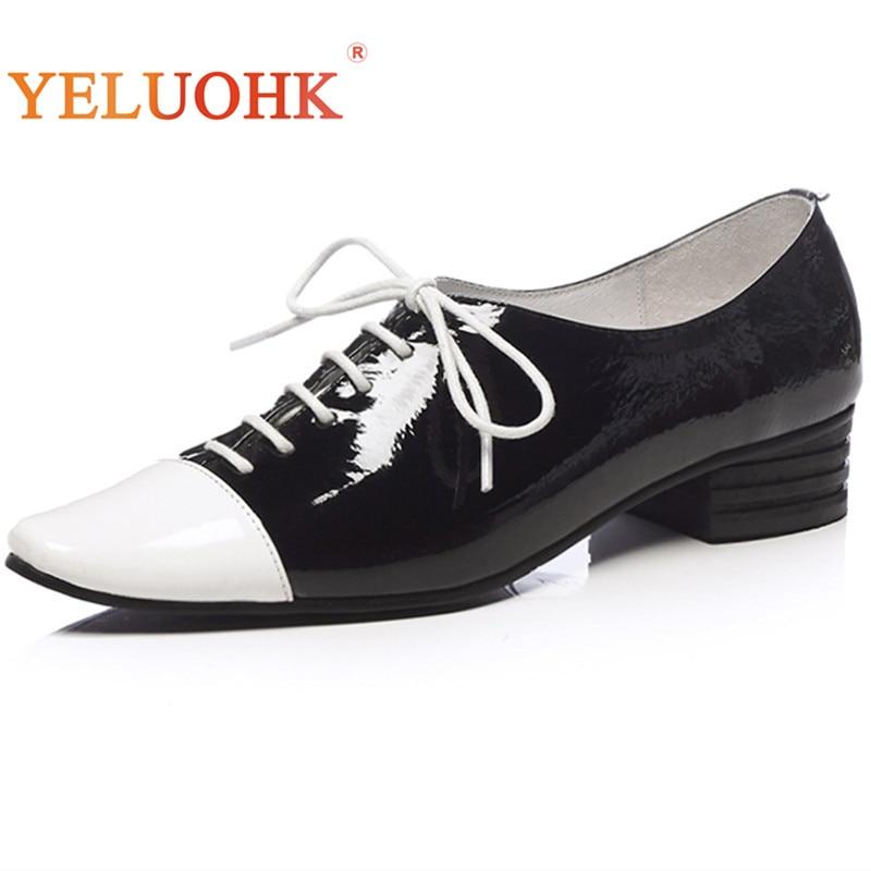 33-41 Pumps Women Shoes Big Size Genuine Leather Shoes Women Heels Top Quality Med Shoes Heels цена