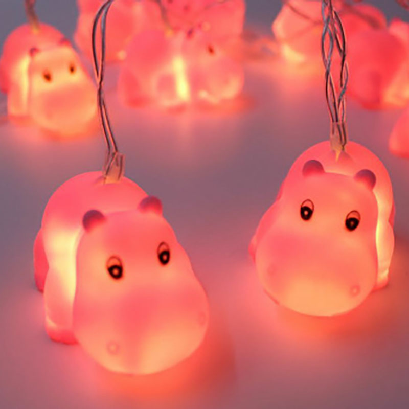 Christmas LED Pet Hippo String Light Battery Operated Fairy Lights 10 LED Fantastic Ligh ...