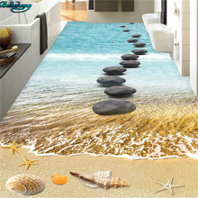 beibehang Large custom flooring ocean cobblestone road 3D floor kitchen toilet bathroom bedroom decoration painting