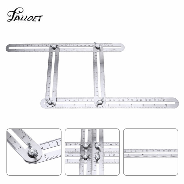 Angle Izer Template Tool Metal Four Sided Ruler Accurate Measuring