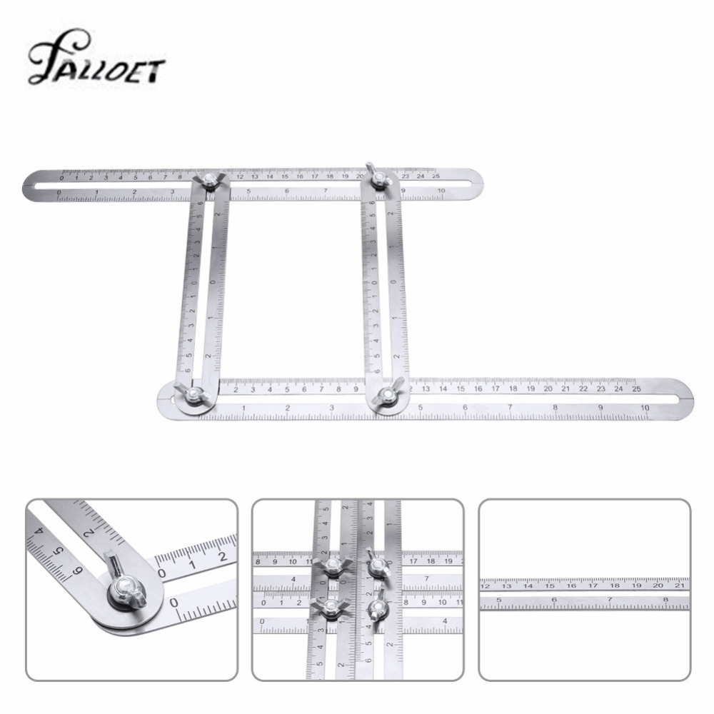 все цены на Angle-izer Template Tool Metal Measuring Tools Four-Sided Ruler Accurate Measuring Tool for Woodworking Builders Handymen онлайн
