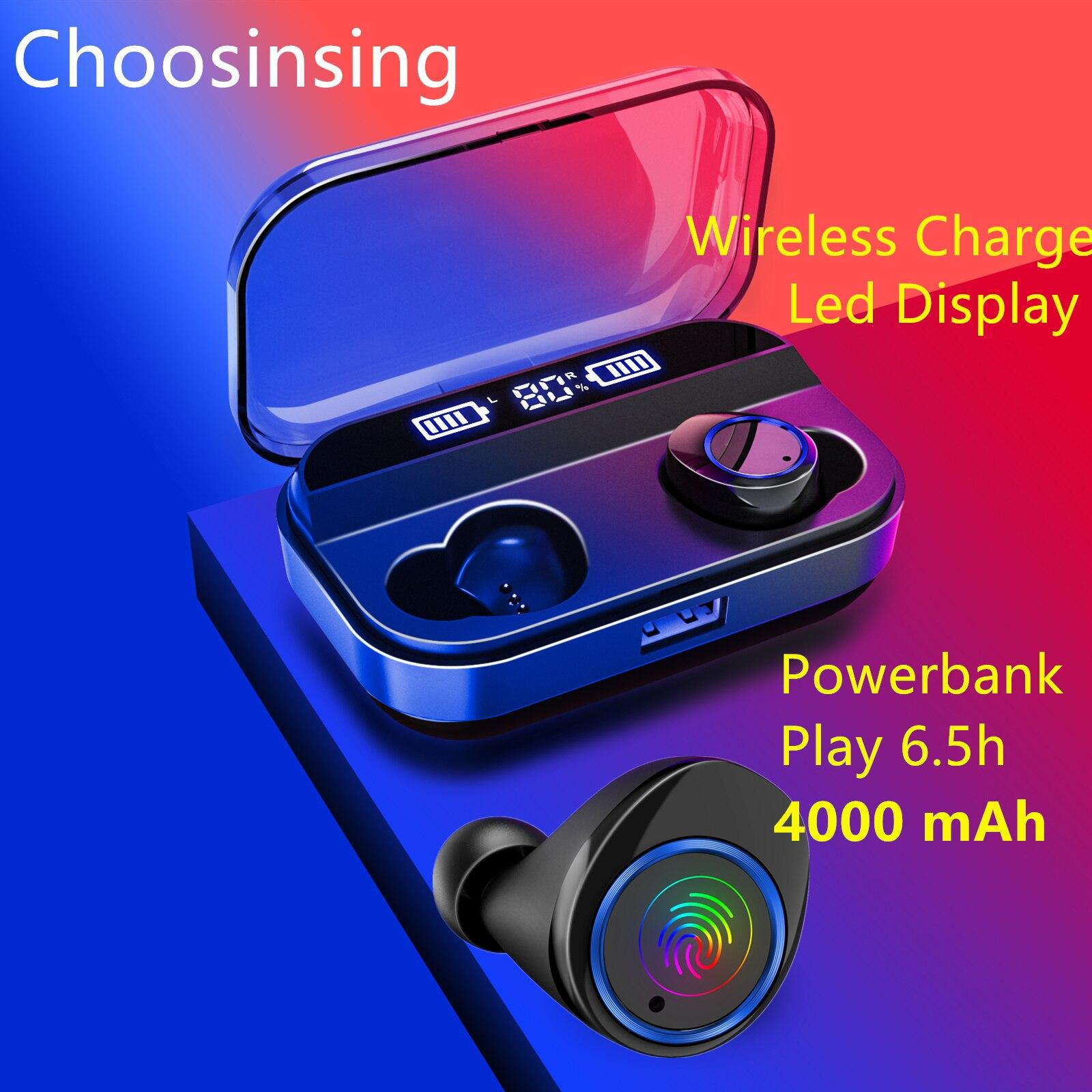 TWS HIFI Dans L'oreille Casque Écouteurs Peuvent être mini batterie externe Chargeur pour Téléphone Portable Sport Bluetooth Écouteur Sans Fil Actif Bouchon D'oreille