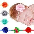 2016 Hair Accessories Newborn Toddler Girls Baby Lace Flowers Satin Ribbon min Roses Elastic Rhinestone Lovely Soft Handbands