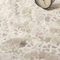 120 cm largeur broderie florale de dentelle rideau décoration de dentelle
