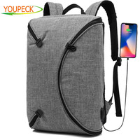 CoolBELL 15.6 Inch Laptop Backpack Bag With USB Charging Port / Personalized Foldable Travel Rucksack / Water resistant Knapsack